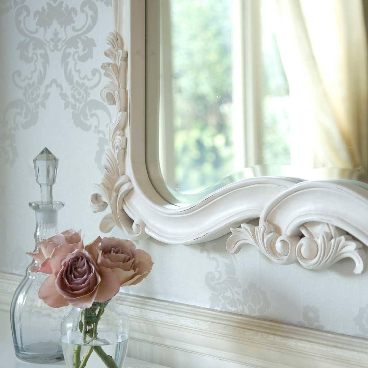 Provencal Heart Top White Mirror | Luxury Mirror With White French Mirror (View 20 of 20)
