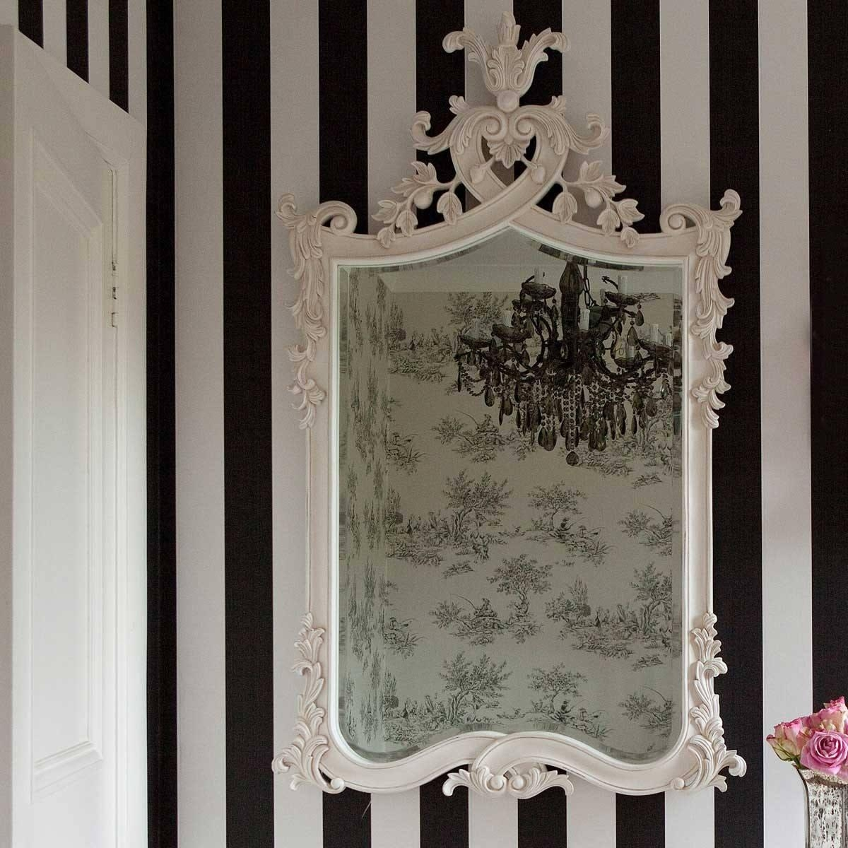 Provencal Heart Top White Mirror | Luxury Mirror With White French Mirror (Image 14 of 20)