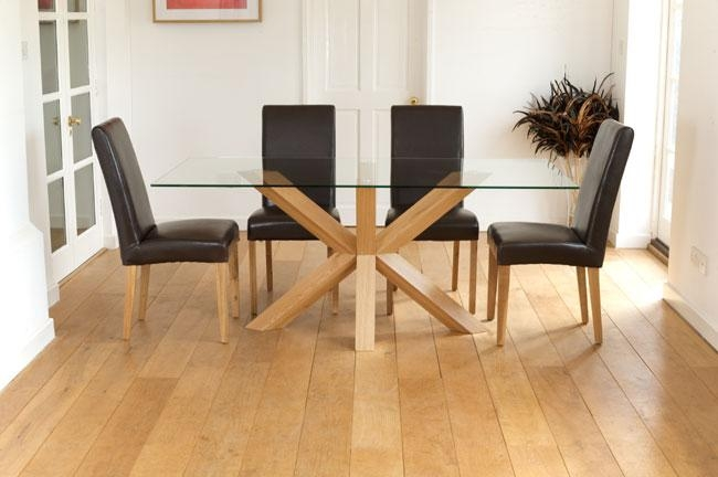 Pub Dining Table And Its Benefits – Home Decor In Glass Dining Tables With Oak Legs (Image 14 of 20)
