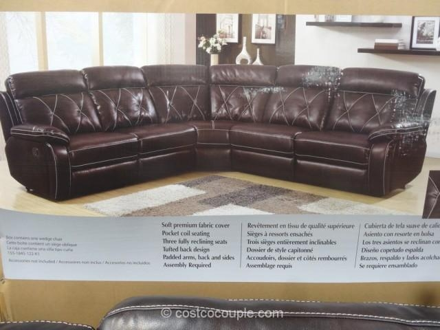 Pulaski Lafayette Motion Sectional With Regard To Costco Leather Sectional Sofas (Image 15 of 20)