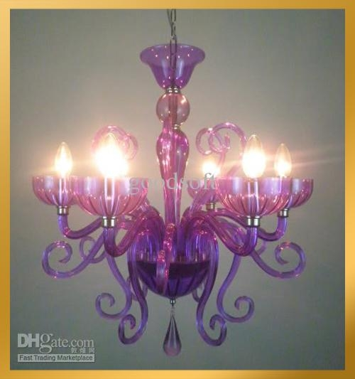 Purple Chandelier Pertaining To Purple Crystal Chandeliers (Image 17 of 25)