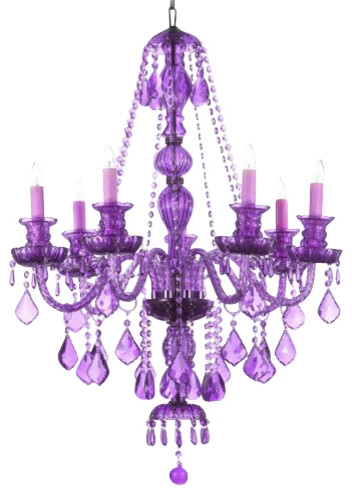 Purple Crystal Chandelier Traditional Chandeliers Gallery Regarding Purple Crystal Chandeliers (View 3 of 25)