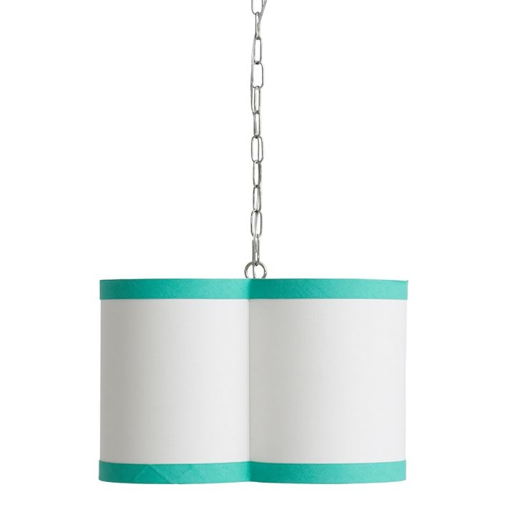 Quatrefoil Drum Pendant Pbteen For Turquoise Drum Chandeliers (Image 17 of 25)