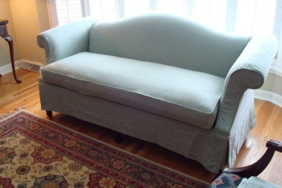 Queen Anne Sofa Slipcover Reupholster Any Brand Style Reupholster With Regard To Camelback Sofa Slipcovers (Image 14 of 20)