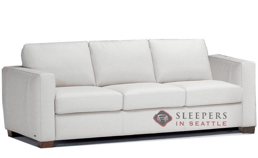 Quick Ship Roya (B735) Queen Leather Sofanatuzzi | Fast Throughout Natuzzi Sleeper Sofas (View 17 of 20)
