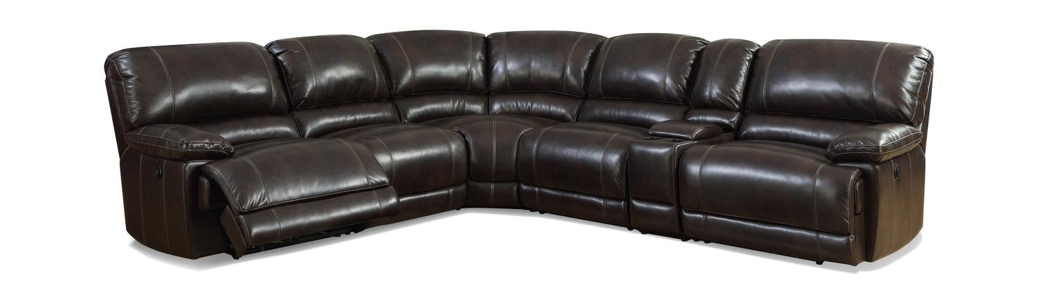 Quinn 6 Piece Power Recline Modular Sectional | Hom Furniture Pertaining To 6 Piece Sectional Sofas Couches (Photo 17 of 20)