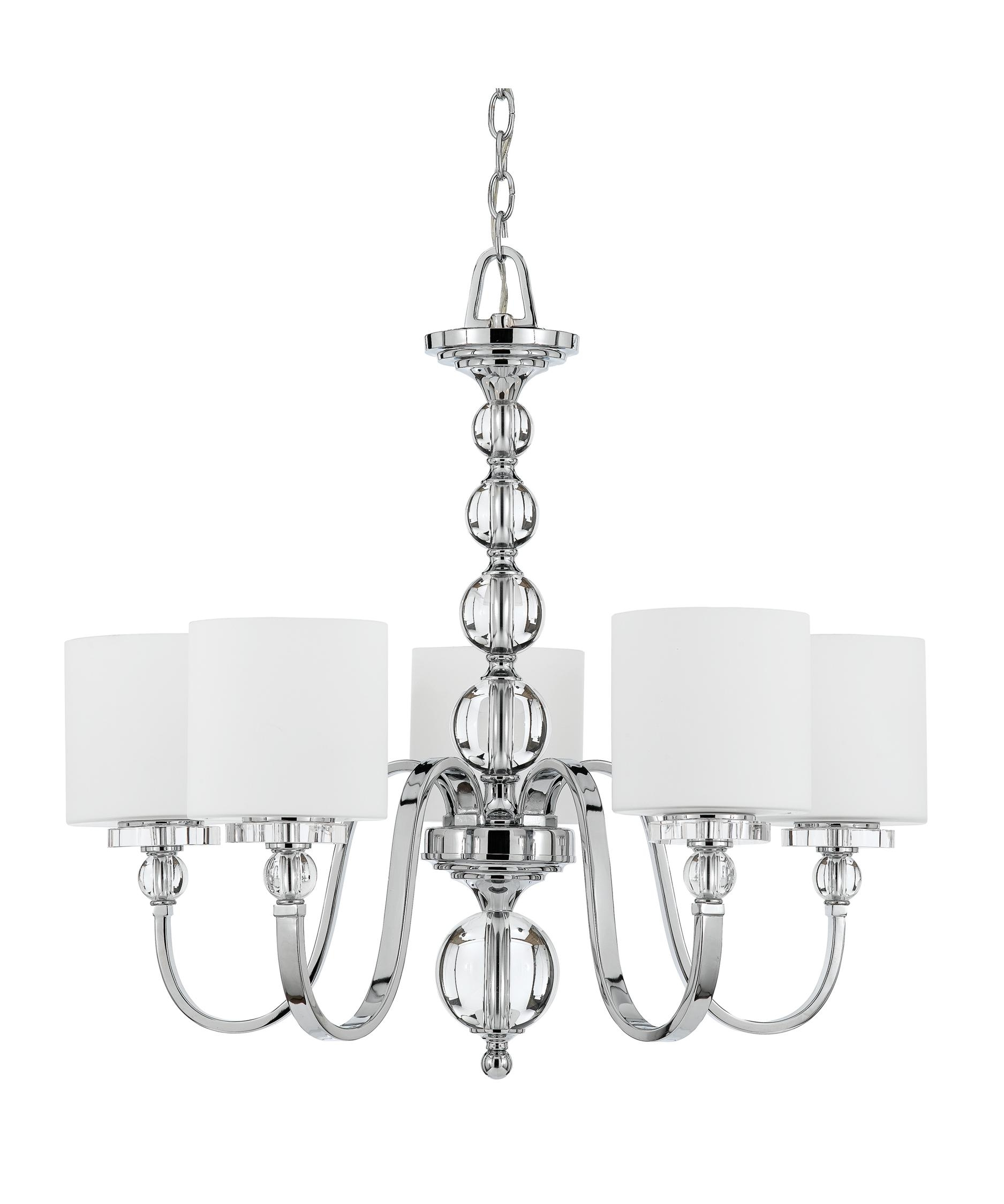 Quoizel Dw5005 Downtown 28 Inch Wide 5 Light Chandelier Capitol With Chrome And Glass Chandeliers (Image 21 of 25)
