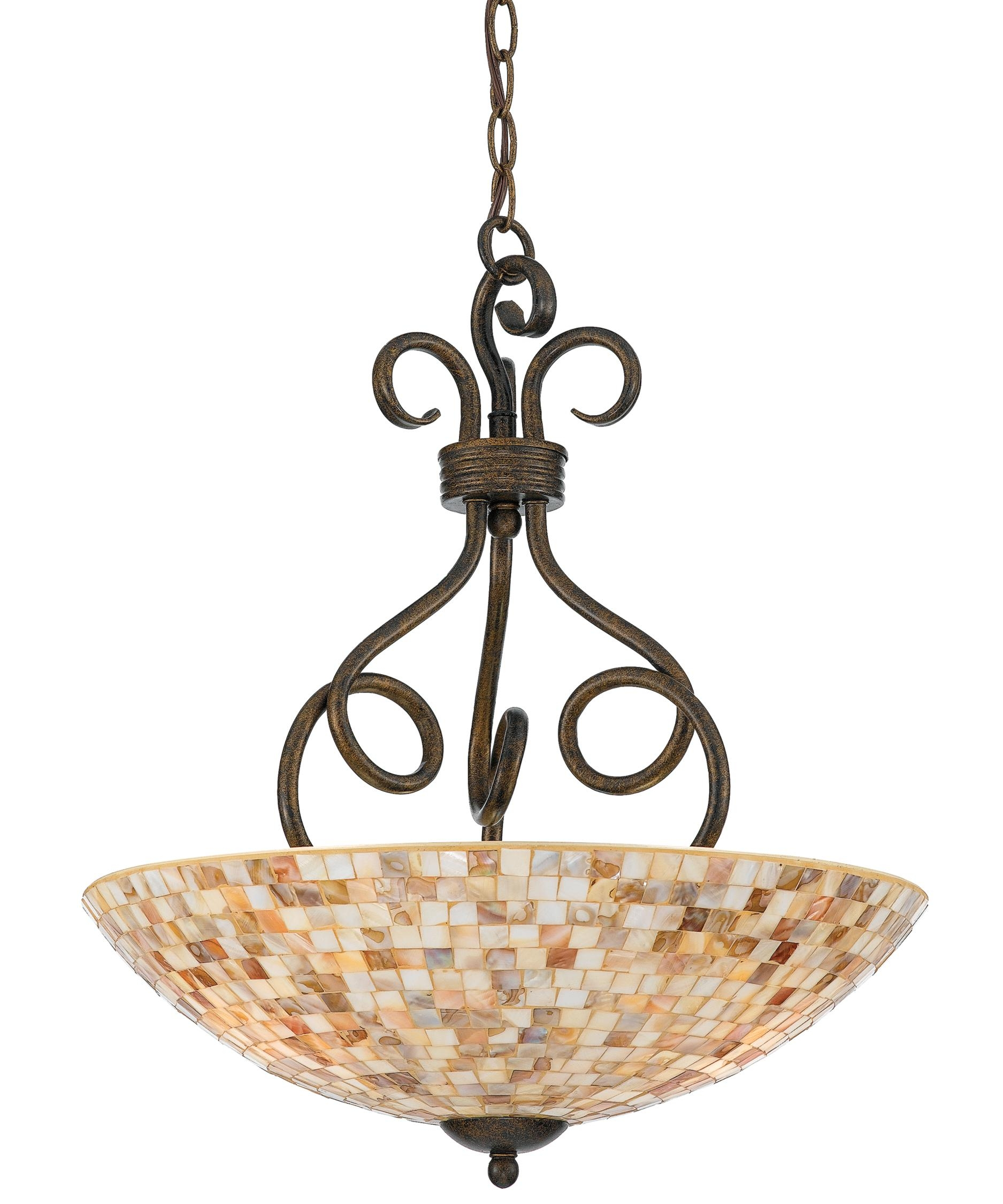 Quoizel My2816 Monterey Mosaic 18 Inch Wide 3 Light Large Pendant Inside Inverted Pendant Chandeliers (Image 22 of 25)