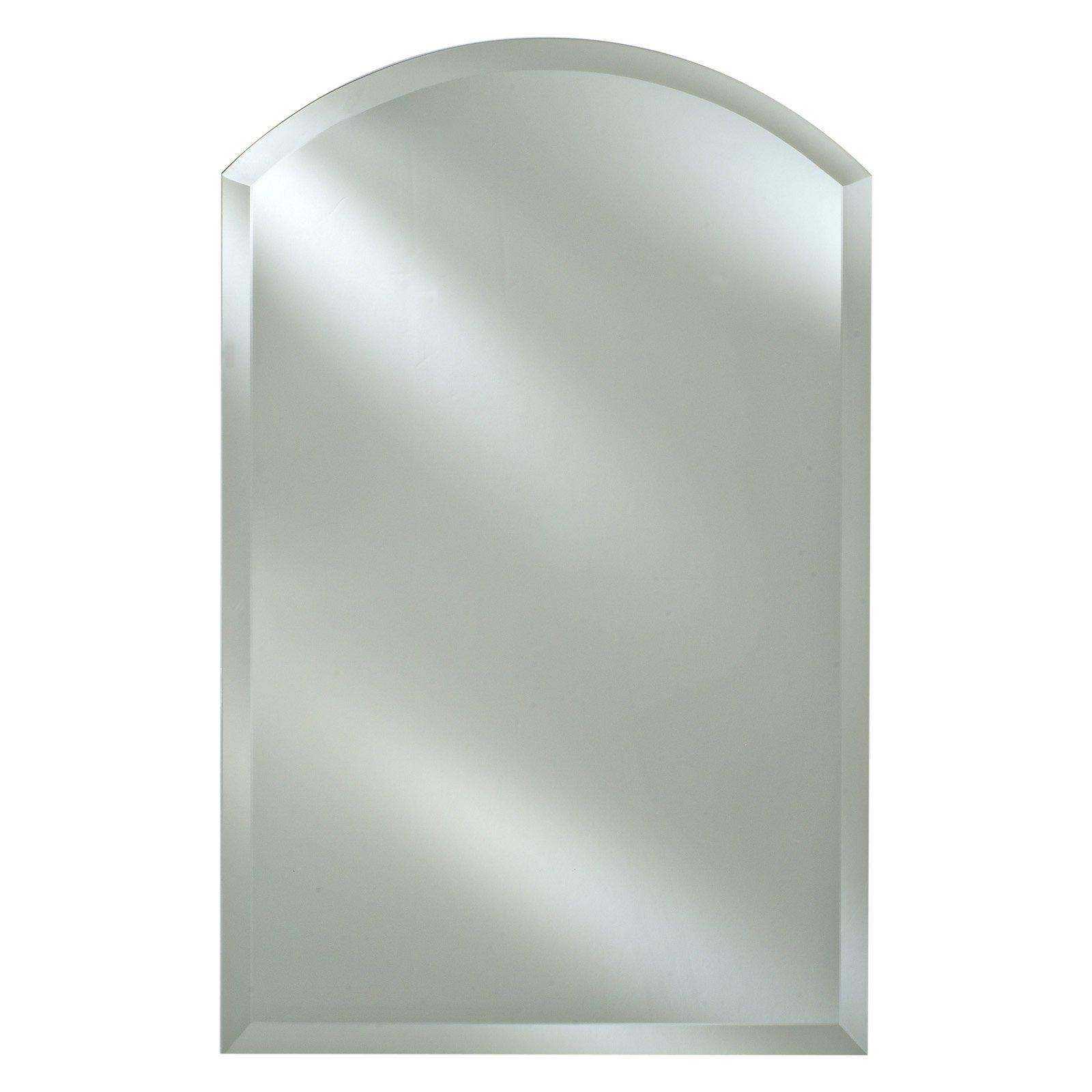 Radiance Frameless Arch Vanity / Wall Mirror | Hayneedle For Frameless Arched Mirror (Image 14 of 20)