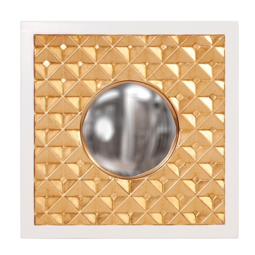 Ramses Square Gold Mirror 92155 – The Home Depot Pertaining To Square Gold Mirror (Image 12 of 20)