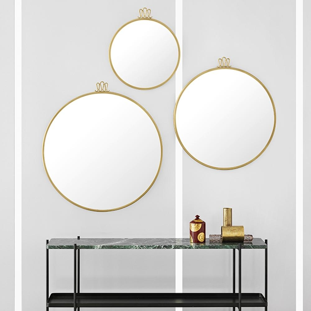 Randaccio Circular Wall Mirror | Gio Ponti | Gubi | Suite Ny Pertaining To Circular Wall Mirrors (Image 16 of 20)