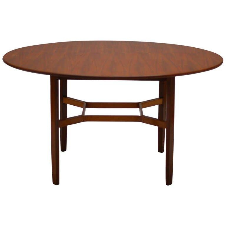 Rare And Large 1954 Walnut Dining Tablelewis Butler For Knoll For Walnut Dining Tables (Image 15 of 20)