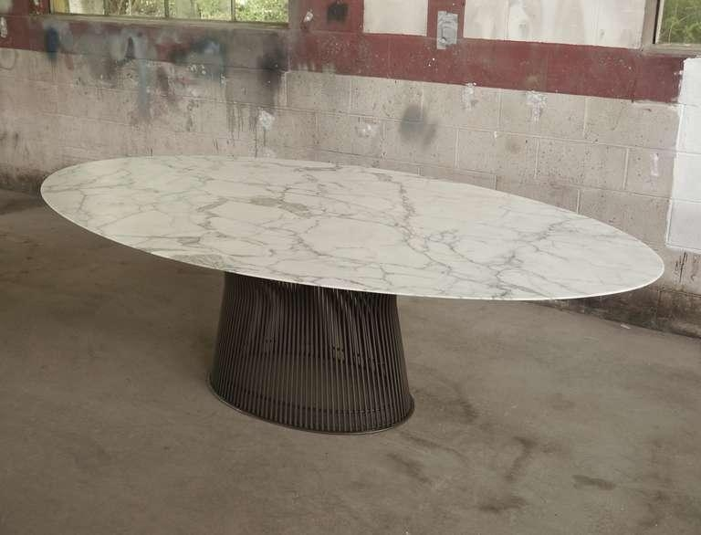 Rare Oval Dining Tablewarren Platner At 1Stdibs Regarding Oval Dining Tables For Sale (Image 17 of 20)