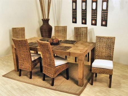 Rattan Chairs For Dining Room – Plushemisphere For Rattan Dining Tables And Chairs (Image 14 of 20)