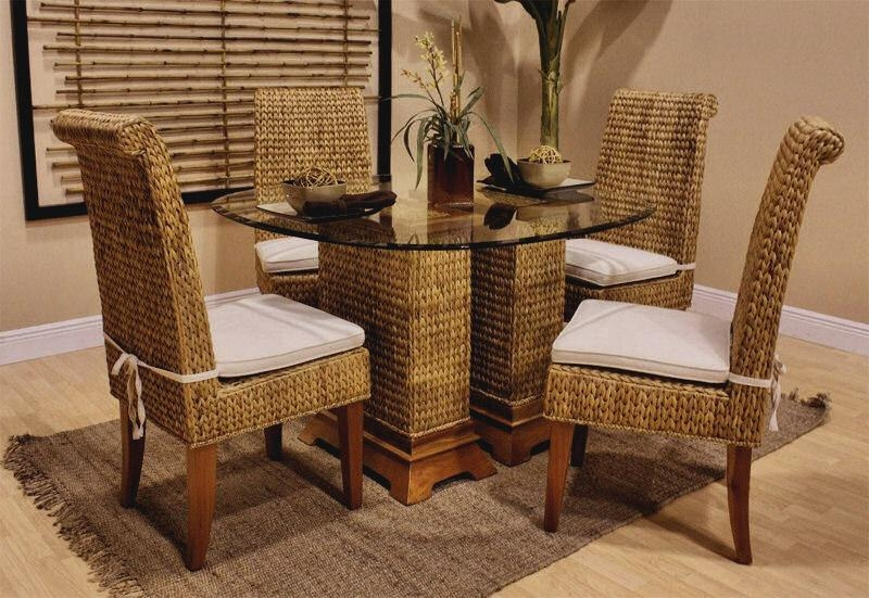 Rattan Dining Chairs. Seagrass Chair (Image 16 of 20)