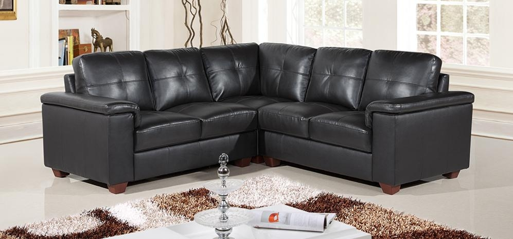 Ravello Corner Midnight Black Hb233 – Sofashop Regarding Black Leather Corner Sofas (Image 19 of 20)
