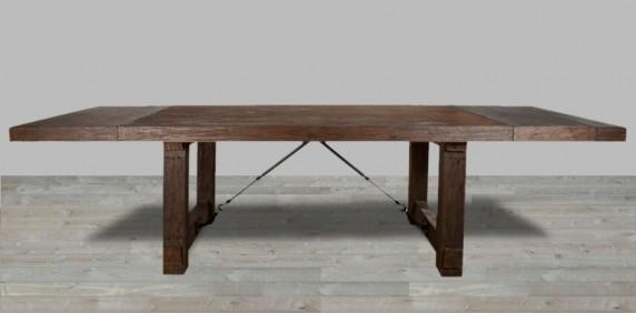 Reclaimed Dining Tables, Buy Reclaimed Dining Tables – Silver In Extending Rectangular Dining Tables (Image 15 of 20)