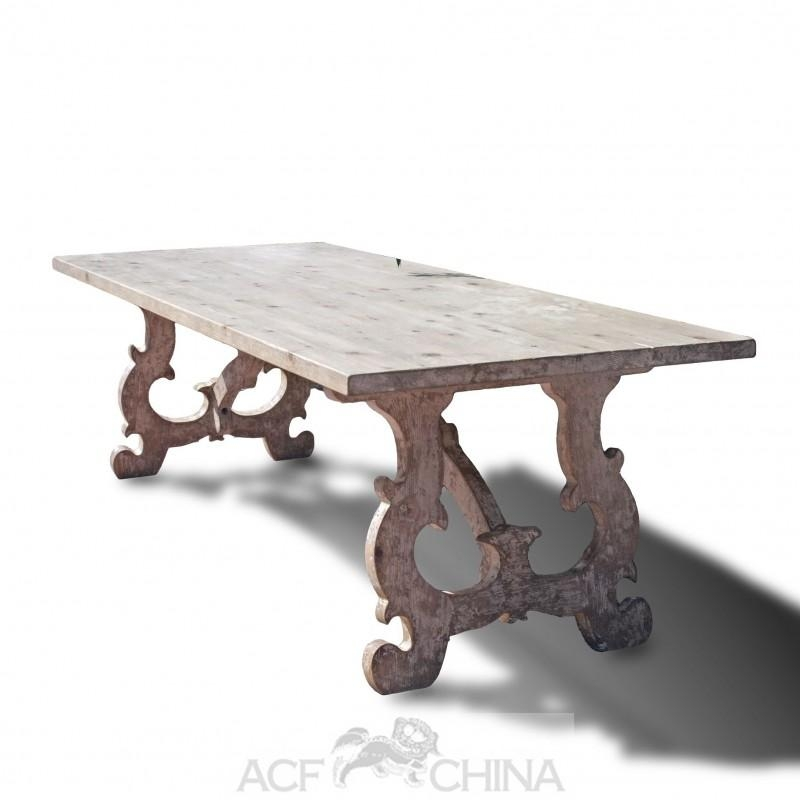 Reclaimed Pinewood French Country Dining Table – Acf China Throughout French Country Dining Tables (Image 19 of 20)
