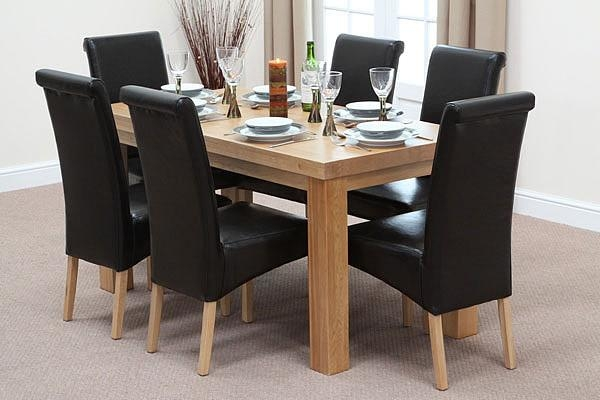 Reclaimed Wood Dining Table And Chairs Home Gallery Oak Dining Throughout Chunky Solid Oak Dining Tables And 6 Chairs (View 18 of 20)
