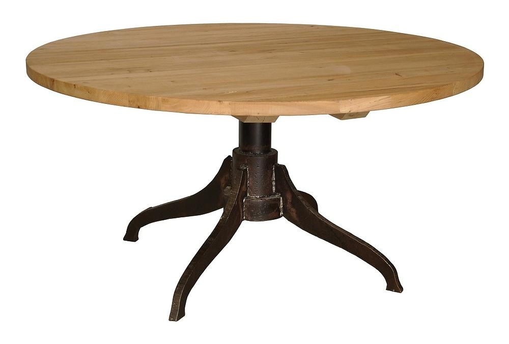 Reclaimed Wood Round Dining Table Throughout Oval Reclaimed Wood Dining Tables (View 18 of 20)
