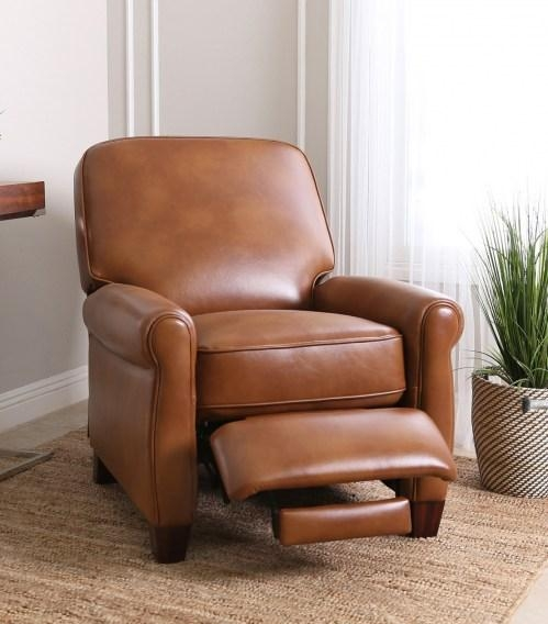 Recliners : Catalina Leather Pushback Recliner Pertaining To Abbyson Recliners (Image 17 of 20)