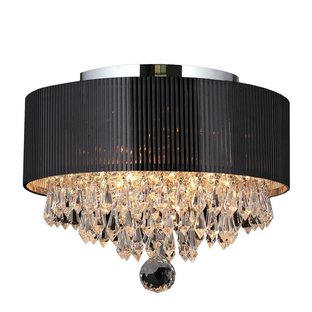 Rectangle Crystal Flushmount Lights Ceiling Lights The Pertaining To Flush Chandelier Ceiling Lights (Image 24 of 25)