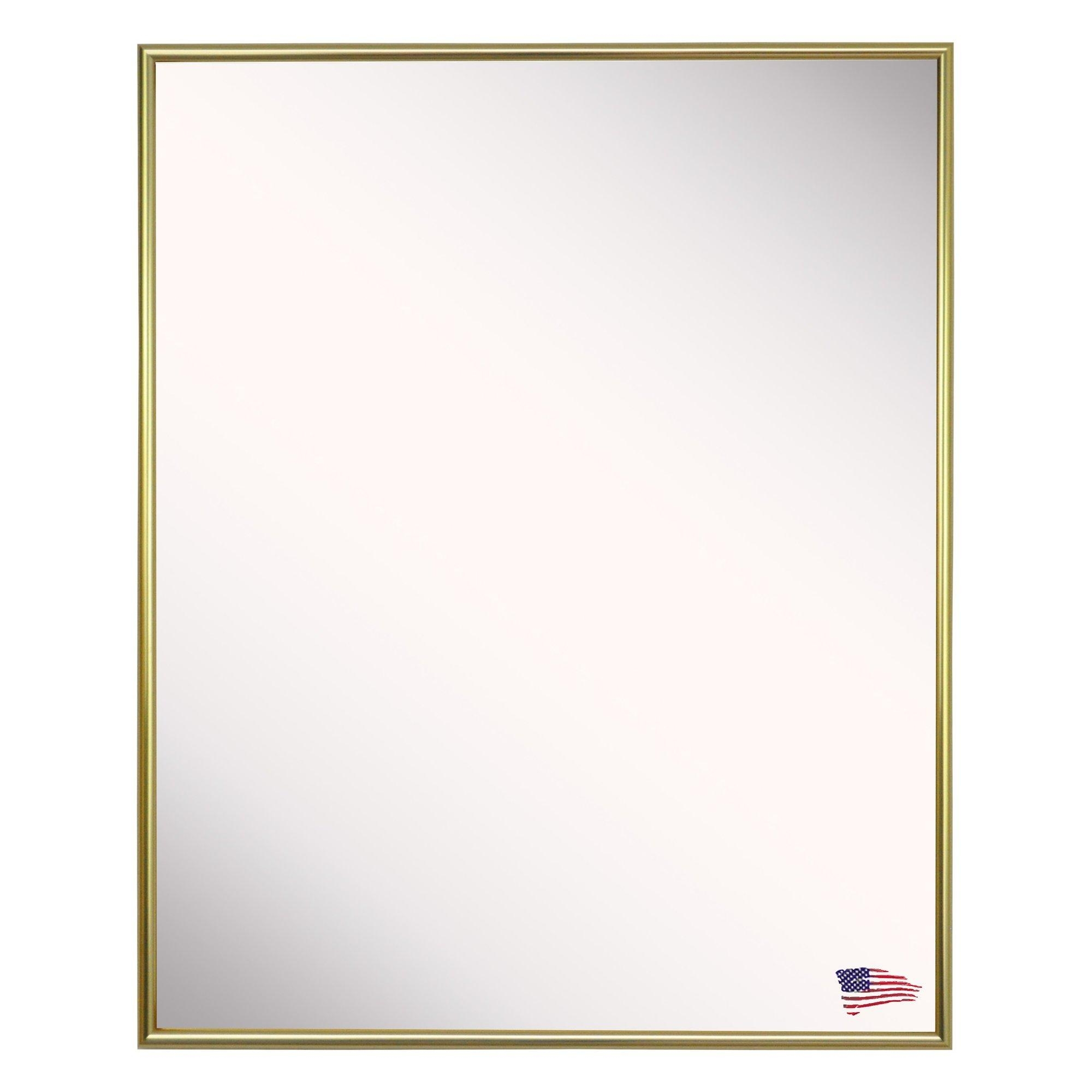 Rectangle Gleaming Gold Wall Mirror | Allmodern Throughout Gold Wall Mirrors (Image 15 of 20)