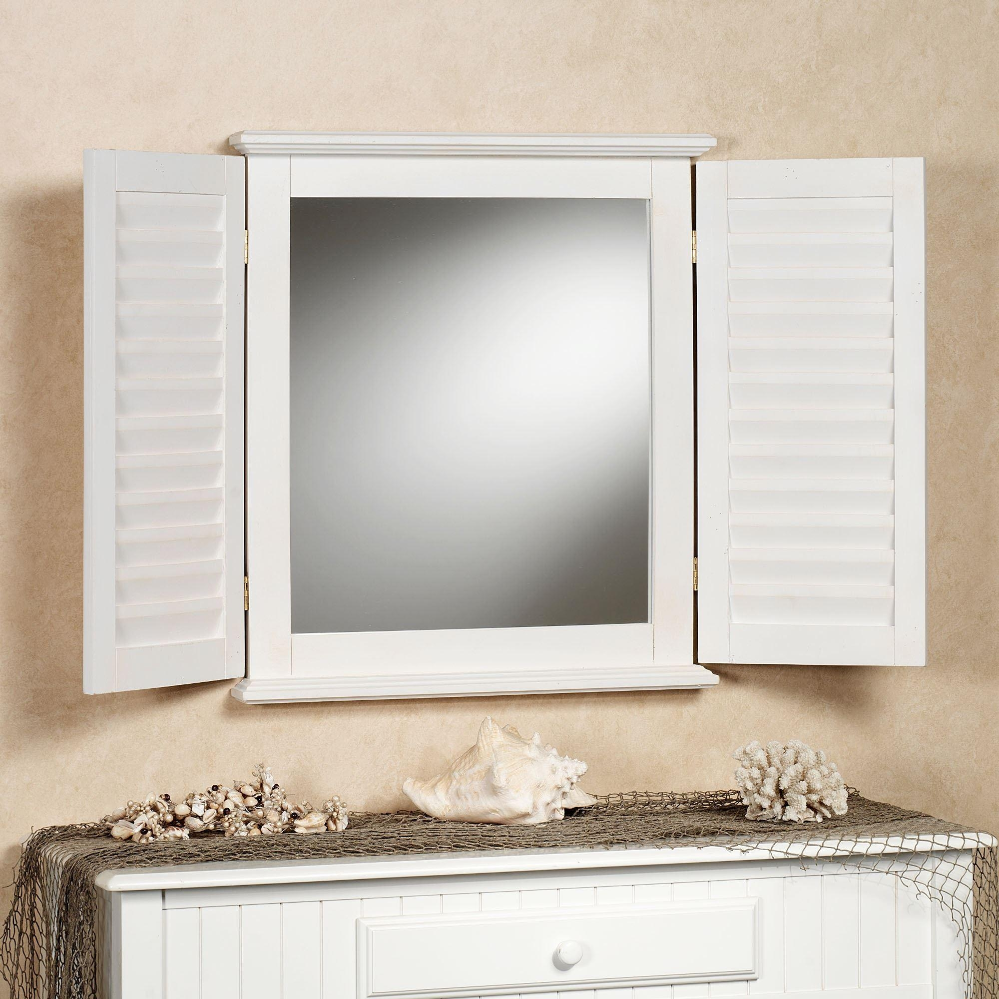 Rectangle Wall Mirrors Regarding Window Shutter Mirror (Image 6 of 20)