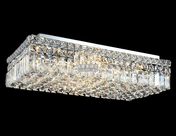 Rectangular Flush Mount Ceiling Light Campernel Designs With Regard To Wall Mount Crystal Chandeliers (Image 21 of 25)