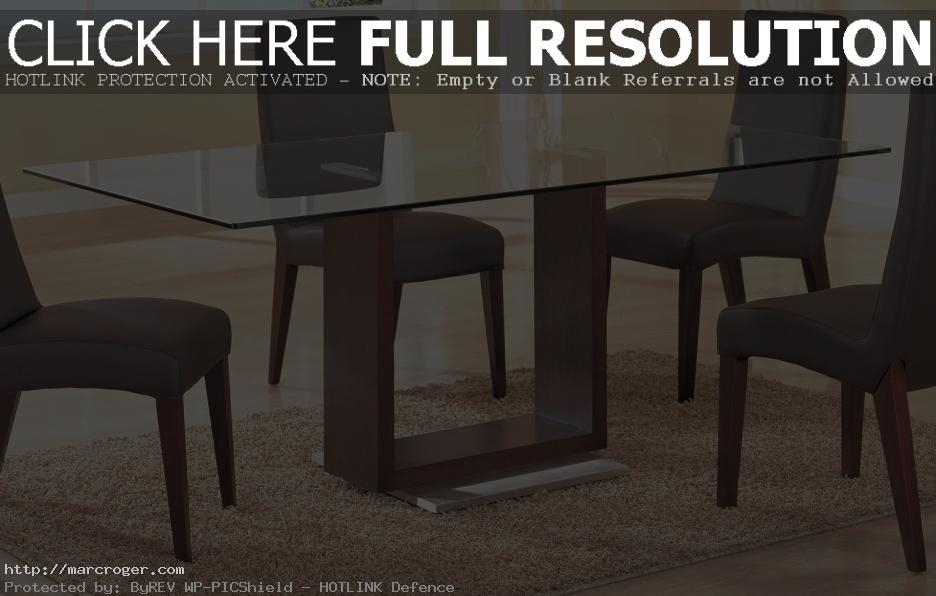 Rectangular Glass Top Table – Destroybmx Pertaining To Glass Dining Tables With Wooden Legs (Image 17 of 20)
