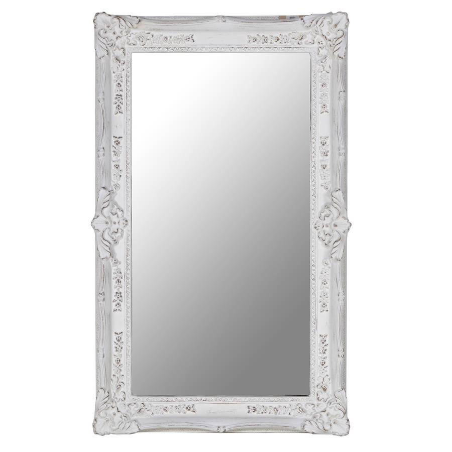 Rectangular Ornate Mirror In Whiteout There Interiors Throughout Ornate White Mirrors (View 4 of 20)