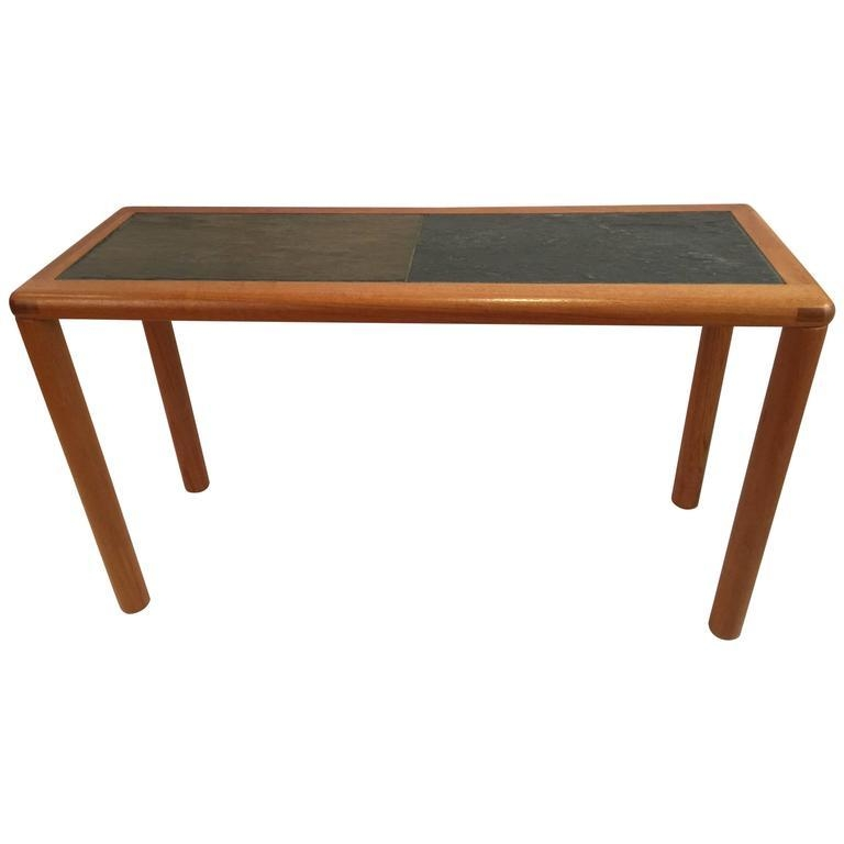 Rectangular Teak And Slate Tablehaslev For Sale At 1Stdibs For Slate Sofa Tables (Image 8 of 20)