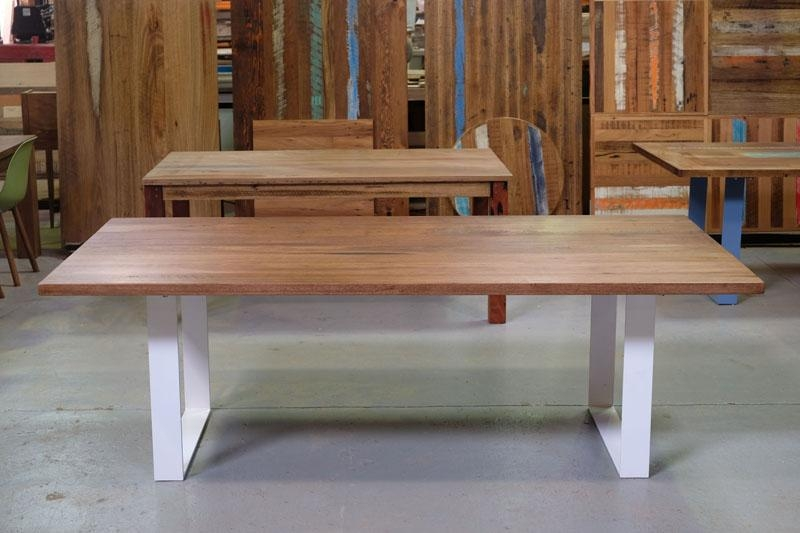 Recycled Timber Dining Tables & Timber Furniture With Regard To Dining Tables With White Legs (Image 12 of 20)