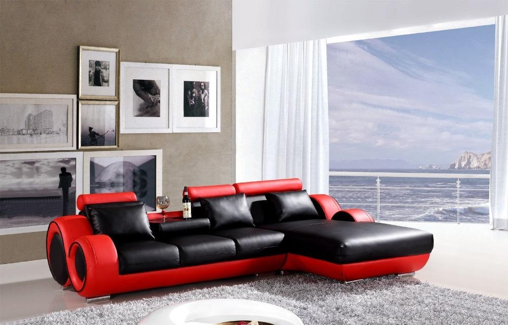 Red And Black Leather Sofa Set — Home Ideas Collection : Save Intended For Black And Red Sofa Sets (Image 14 of 20)