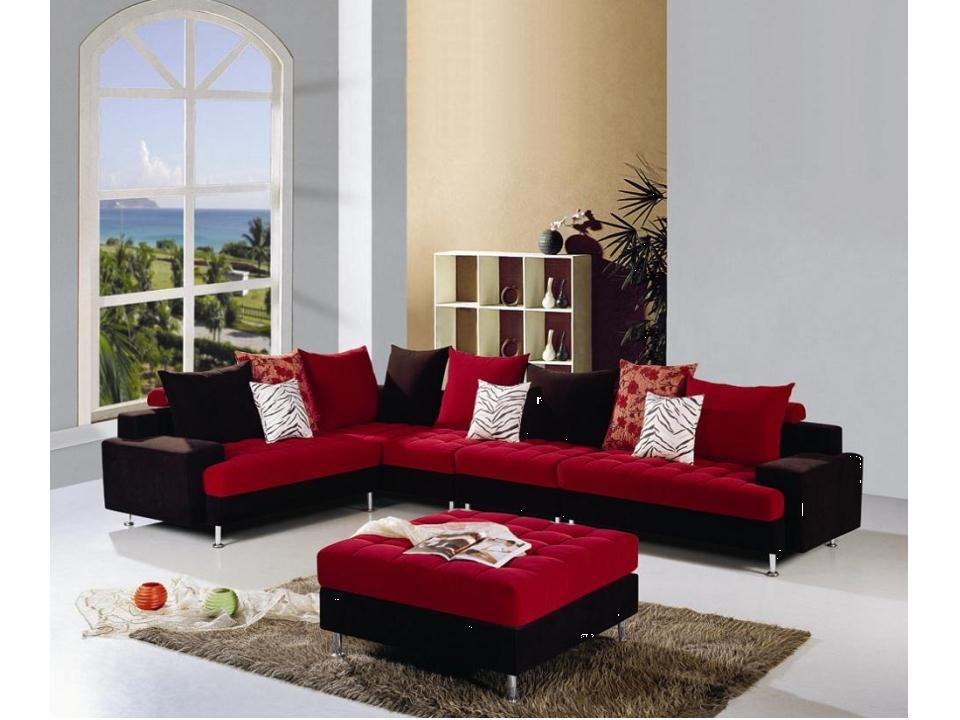 Red And Black Sofa Set, Red And Black Sofa Set Suppliers And Within Black And Red Sofa Sets (View 2 of 20)