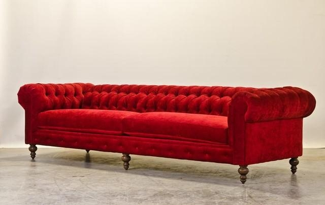 Red Chesterfield Sofa Red Leather Chesterfield Sofa At 1Stdibs With Regard To Red Chesterfield Sofas (Image 17 of 20)