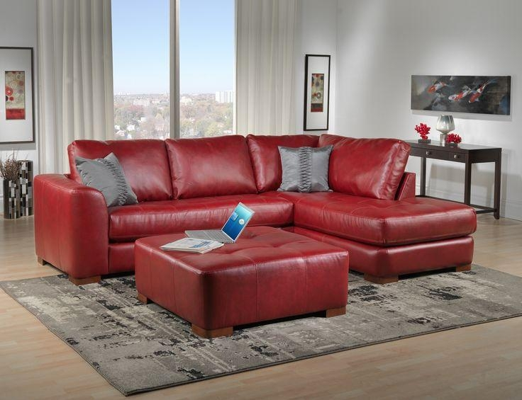 Red Contemporary Sofa – Karinnelegault Inside Dark Red Leather Couches (View 6 of 20)