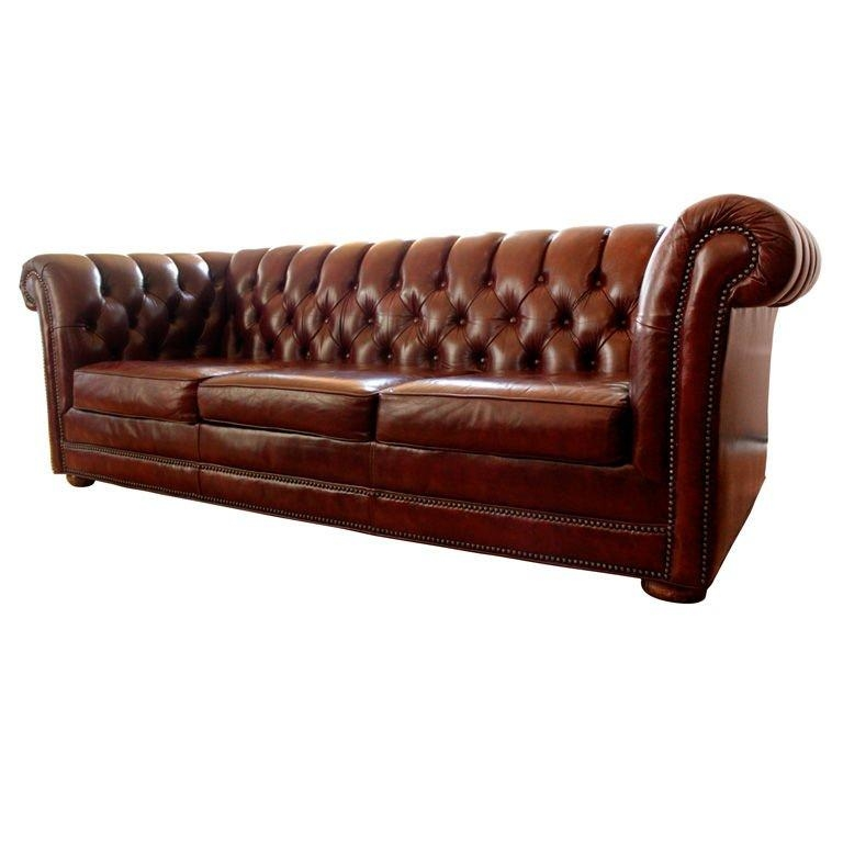 Red Leather 7' Chesterfield Sofa At 1Stdibs Regarding Red Chesterfield Sofas (Image 18 of 20)