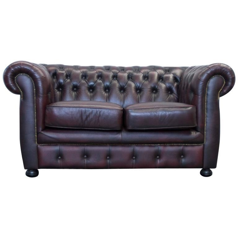 Red Leather Chesterfield Three Seat Sofamöbel Art For Sale At With Regard To Red Chesterfield Sofas (Image 19 of 20)