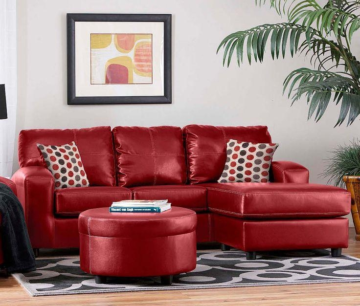 Red Leather Sectional (View 4 of 20)