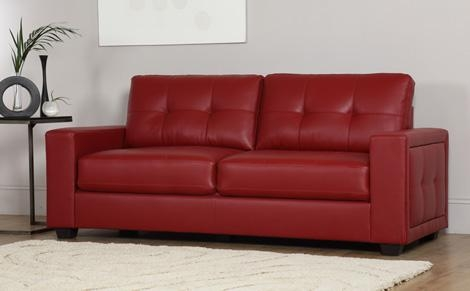 Red Leather Sofas | Furniture Choice Inside Dark Red Leather Sofas (Image 19 of 20)