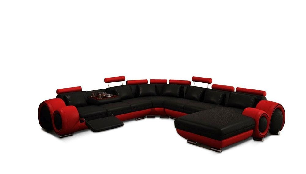 Red Sectional Sofa (View 6 of 20)