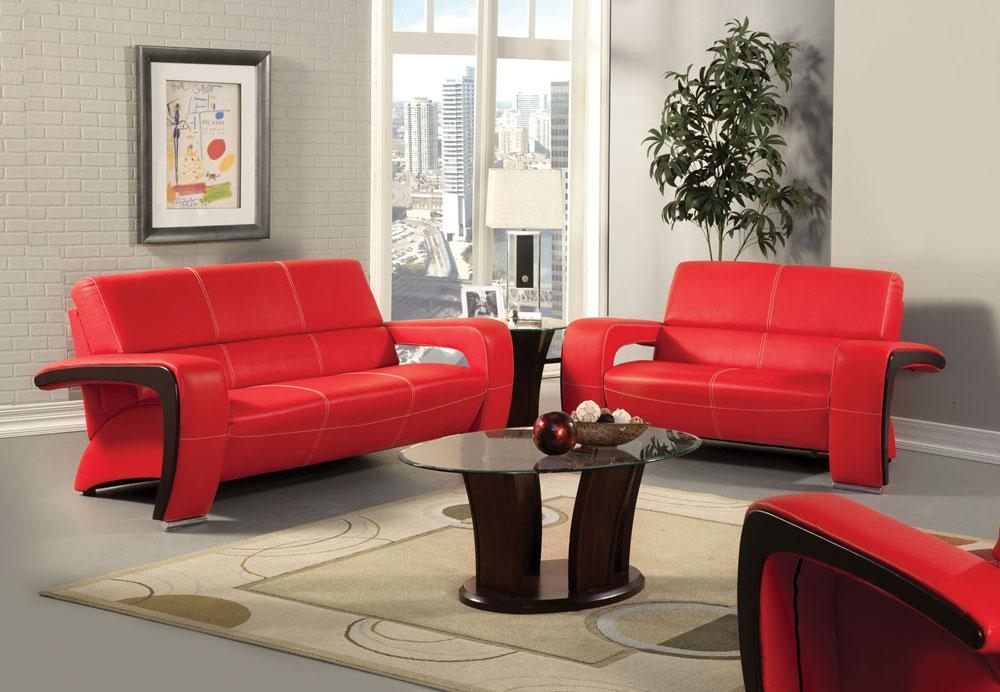 Red Sofa Set Within Black And Red Sofa Sets (View 8 of 20)