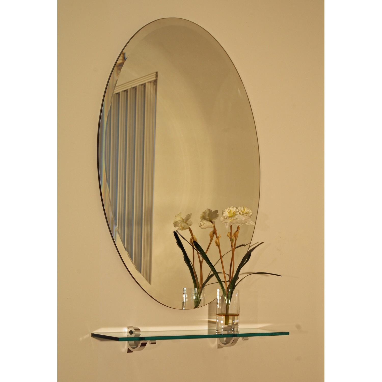 Regency 24 X 36 Oval Beveled Edge Mirror Spancraft Wall Mirror Inside Bevelled Oval Mirror (Image 11 of 20)