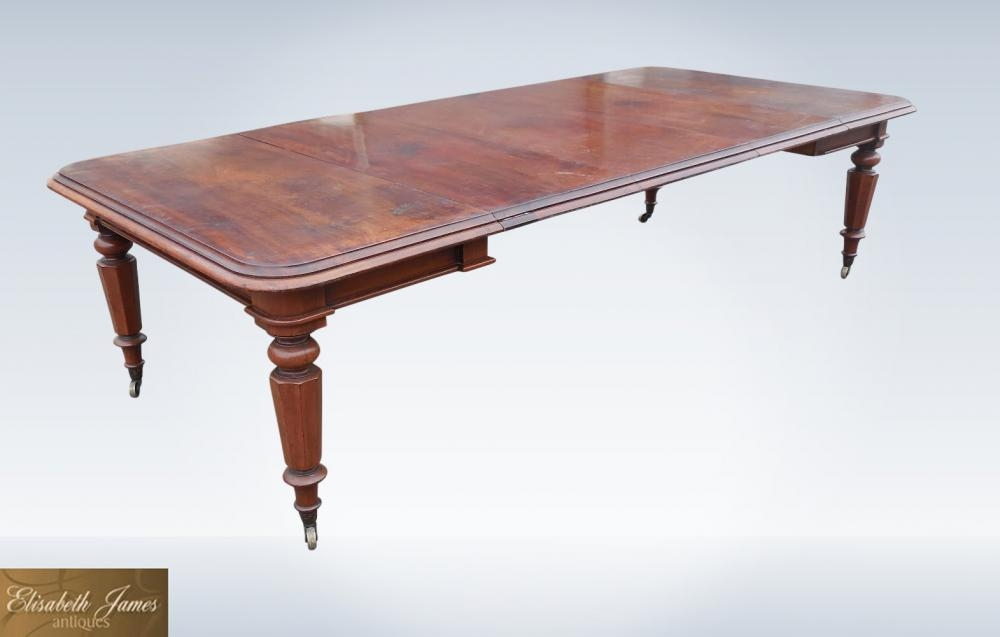 Regency Dining Table – Creditrestore Intended For Mahogany Extending Dining Tables (Image 16 of 20)