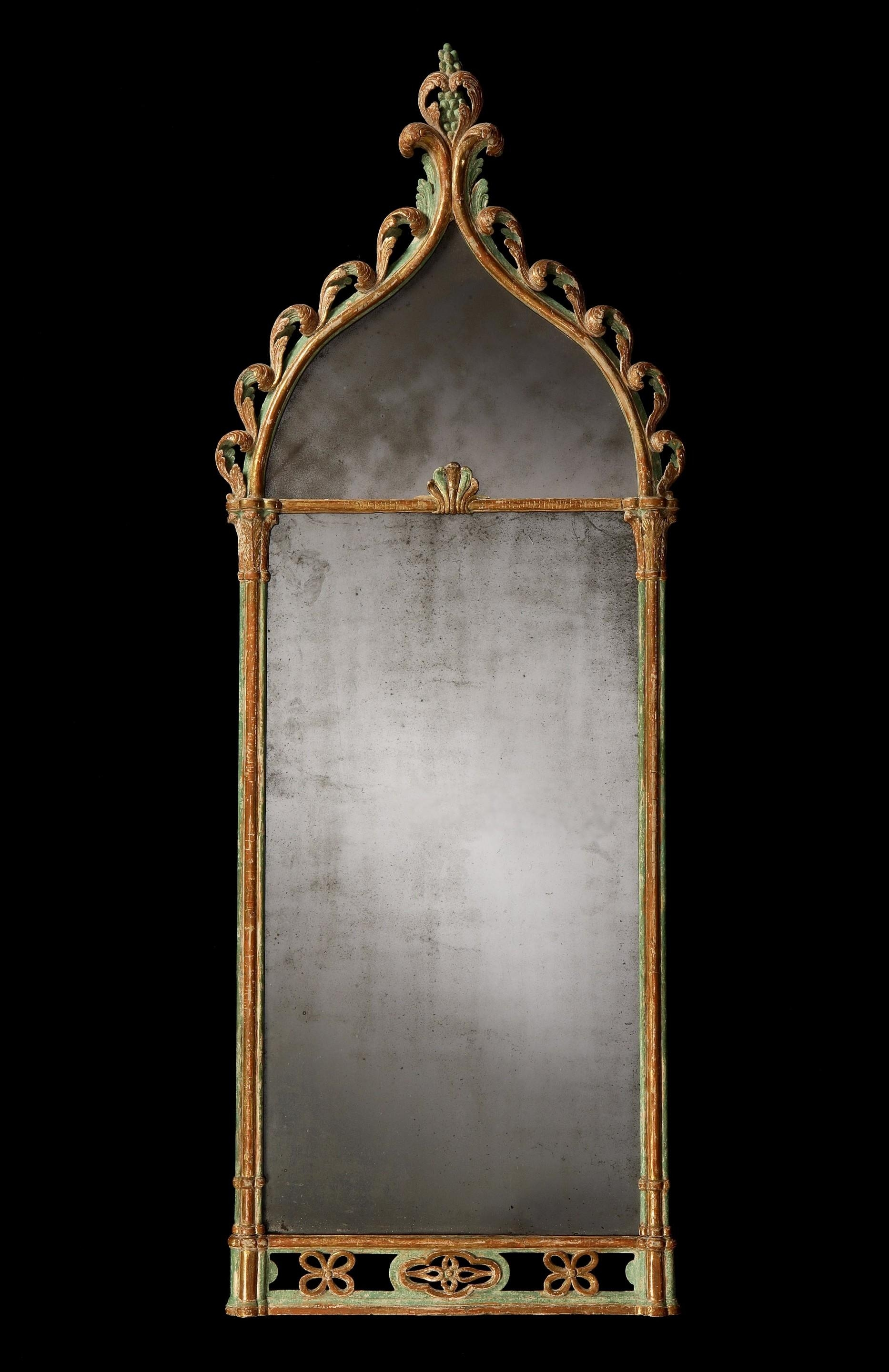 Regency Period Antique Mirror In The Gothic Style With Original Inside Gothic Style Mirror (View 4 of 20)