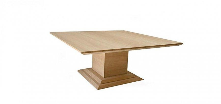 Regent Square Extending Pedestal Dining Table Intended For Square Extending Dining Tables (View 17 of 20)