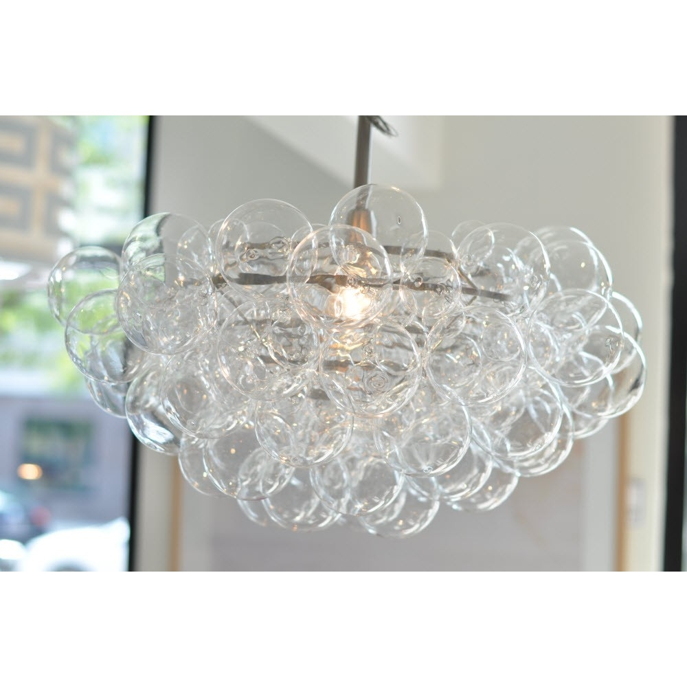 Regina Andrew Design Bubbles Chandelier Clear Candelabra Inc Pertaining To Turquoise Bubble Chandeliers (Image 23 of 25)