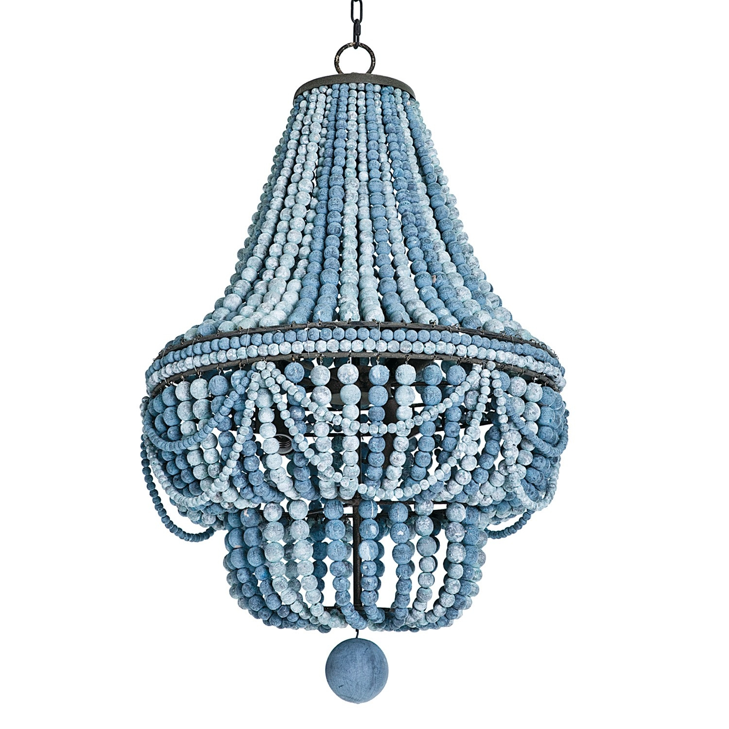 Regina Andrew Design Malibu Chandelier Blue Contemporary Style For Turquoise Empire Chandeliers (Image 21 of 25)
