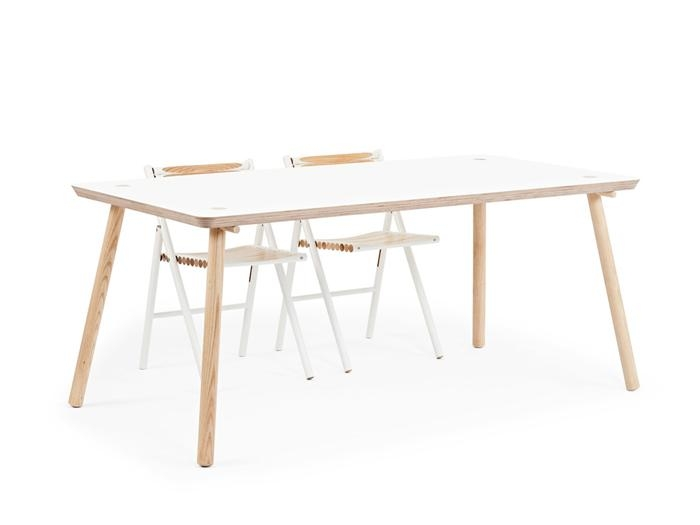 Reinier De Jong Designs Minimalist Stip Table Made From Birch With Birch Dining Tables (Image 13 of 20)